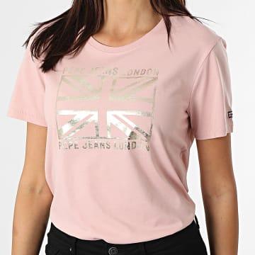 Pepe Jeans - Tee Shirt Femme Zeldas Rose