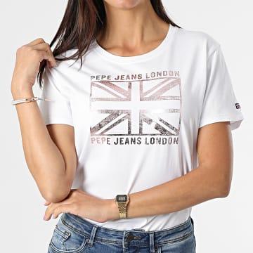Pepe Jeans - Tee Shirt Femme Zeldas Blanc