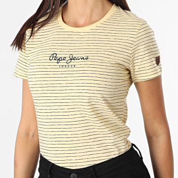 Pepe Jeans - Tee Shirt Femme Mahsa Jaune