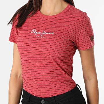 Pepe Jeans - Tee Shirt Femme Mahsa Rouge