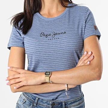 Pepe Jeans - Tee Shirt Femme Mahsa Bleu Marine