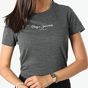 Pepe Jeans - Tee Shirt Femme Mahsa Gris Anthracite