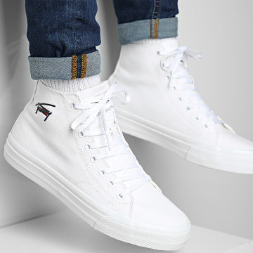 Tommy Jeans - Baskets Long Lace Midcut Vulcan 0714 White