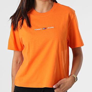 Tommy Jeans - Tee Shirt Crop Femme BXY Linear 0057 Orange