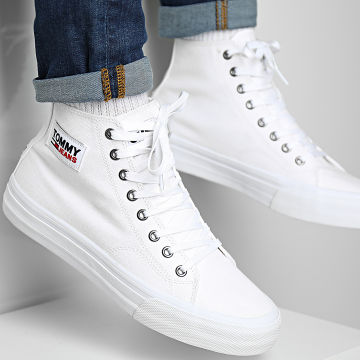 Tommy Jeans - Baskets Mid Cut Long Lace Up Vulcan 0662 White