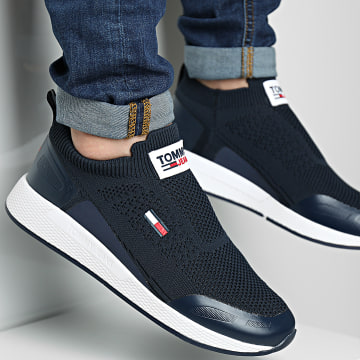 Tommy Jeans - Baskets Flexi Sock 0664 Bleu Marine