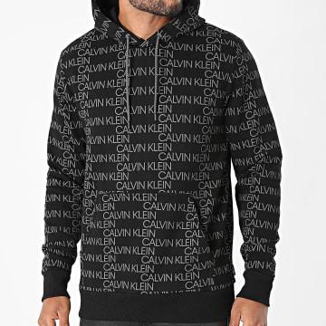 Calvin Klein - Sweat Capuche All Over Logo 7771 Noir