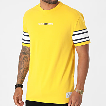 Tommy Jeans - Tee Shirt Contrast 9738 Jaune