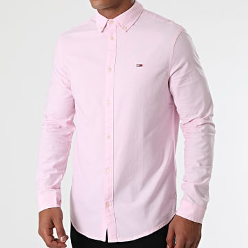 Tommy Jeans - Chemise Manches Longues Stretch Oxford 9420 Rose Clair