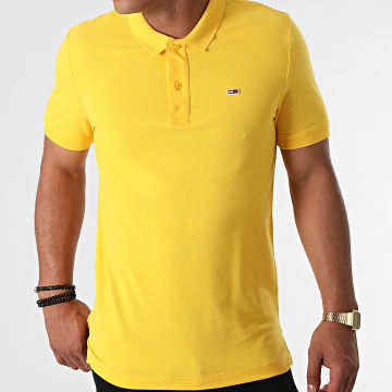 Tommy Jeans - Polo Manches Courtes Classic Solid Stretch 9439 Jaune
