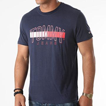 Tommy Jeans - Tee Shirt Flag Tommy 9717 Bleu Marine