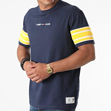Tommy Jeans - Tee Shirt Contrast Sleeve Details 9738 Bleu Marine