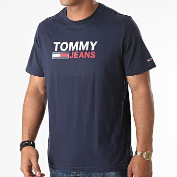Tommy Jeans - Tee Shirt Corp Logo 0103 Bleu Marine