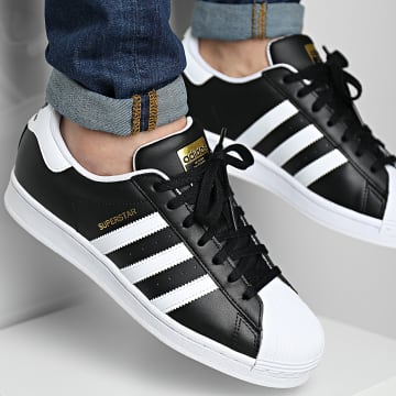 Adidas Originals - Baskets Superstar FX2331 Core Black Cloud White Gold Metallic