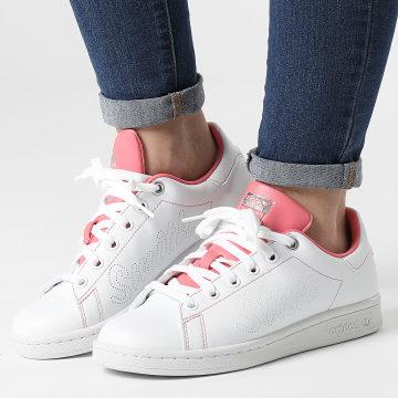 Adidas Originals - Baskets Femme Stan Smith FY5465 Cloud White Hazy Rose Silver Metallic