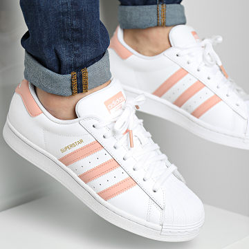 Adidas Originals - Baskets Superstar H00162 Cloud White Amber Blush