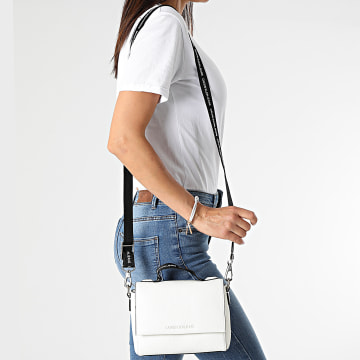 Calvin Klein - Sac A Main Femme Small Satchel 8267 Blanc
