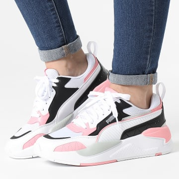 Puma - Baskets Femme X-Ray 2 Square 373108 White Black Peony Gray Violet