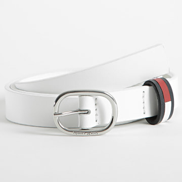Tommy Jeans - Ceinture Femme Oval 0177 Blanc