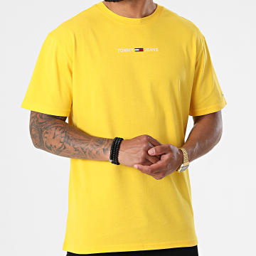 Tommy Jeans - Tee Shirt Small Text 9701 Jaune
