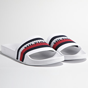 Tommy Hilfiger - Claquettes Knited Pool Slide 3642 White