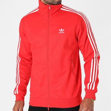 Adidas Originals - Veste Zippée A Bandes Beckenbauer H09111 Rouge
