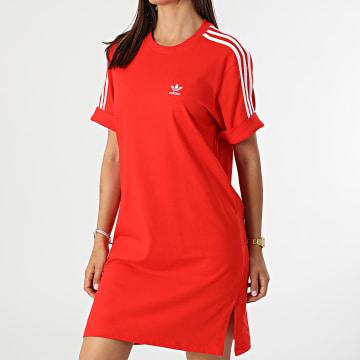 Adidas Originals - Robe Tee Shirt Femme H35505 Rouge