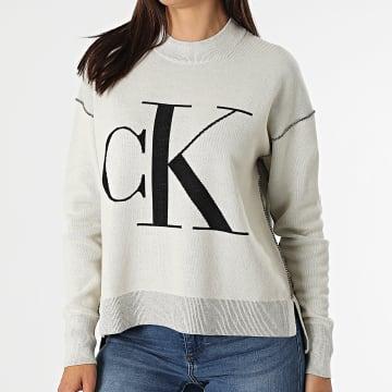 Calvin Klein - Pull Femme CK Loose 6243 Beige
