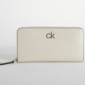 Calvin Klein - Portefeuille Femme 7180 Beige