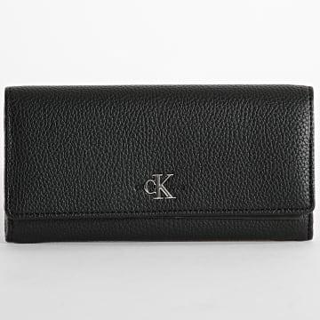Calvin Klein - Portefeuille Femme Longfold 8012 Noir