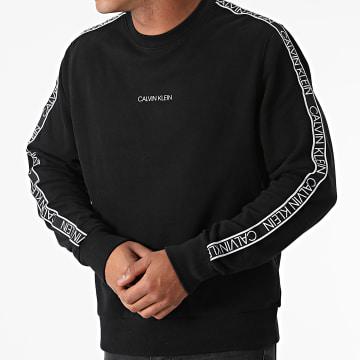 Calvin Klein - Sweat Crewneck A Bandes Essential Logo Tape 7313 Noir
