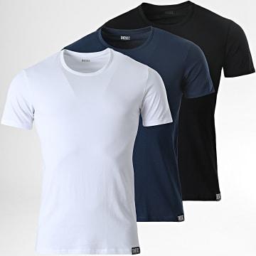 Diesel - Lot De 3 Tee Shirts Randal 00SJ5L-0QAZY Blanc Noir Bleu Marine