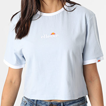 Ellesse - Tee Shirt Crop Femme Derla Bleu Clair