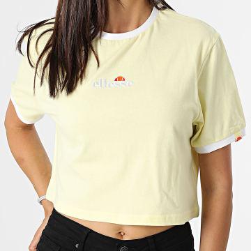 Ellesse - Tee Shirt Crop Femme Derla Jaune