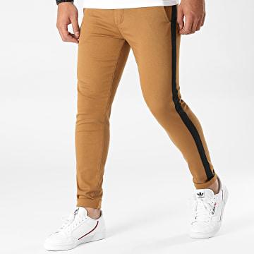 LBO - Pantalon Chino Skinny Avec Bande 1777 Camel