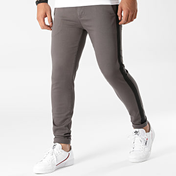 LBO - Pantalon Chino Skinny Avec Bande 1778 Gris