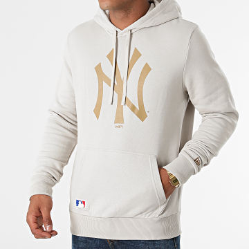 New Era - Sweat Capuche Team Logo New York Yankees 12033505 Beige