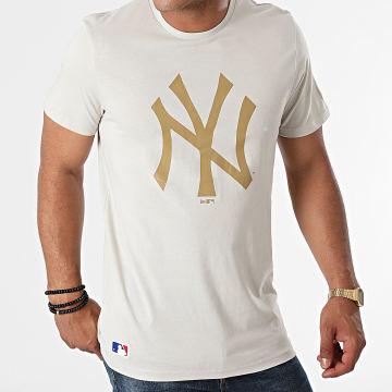 New Era - Tee Shirt Team Logo New York Yankees 12033497 Beige