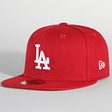New Era - Casquette Fitted 59Fifty MLB Basic 10047498 Los Angeles Dodgers Rouge