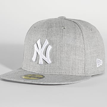 New Era - Casquette Fitted 59Fifty MLB Basic 11044974 New York Yankees Gris Chiné