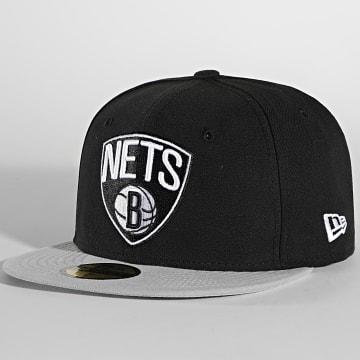 New Era - Casquette Fitted 59Fifty NBA Basic 10862335 Brooklyn Nets Noir