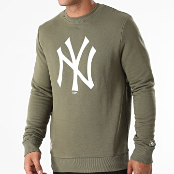 New Era - Sweat Crewneck Team Logo New York Yankees 11863702 Vert Kaki