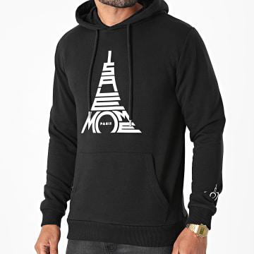 Niro - Sweat Capuche Paris Noir Blanc