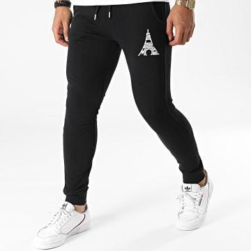 Niro - Pantalon Jogging Paris Noir Blanc