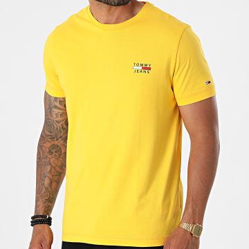 Tommy Jeans - Tee Shirt TJM Chest Logo 0099 Jaune