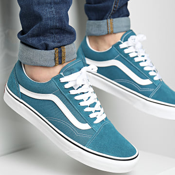 Vans - Baskets Old Skool 8G19EM Blue Coral True White