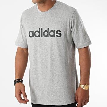 adidas - Tee Shirt Linear Logo GL0060 Gris Chiné