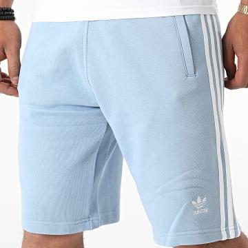 Adidas Originals - Short Jogging A Bandes 3 Stripes H06692 Bleu Clair