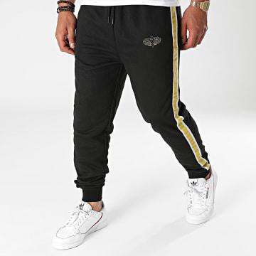 Charo - Pantalon Jogging A Bandes Hood Drift Noir