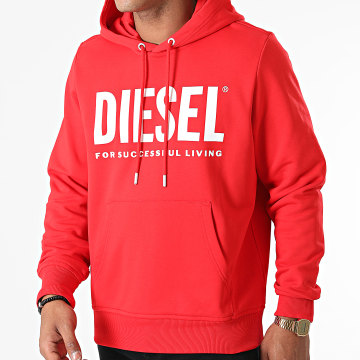 Diesel - Sweat Capuche Girk Ecologo A02813-0BAWT Rouge